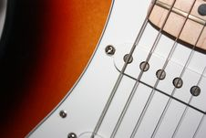 Electric Guitar Close Up Royalty Free Stock Photography