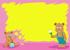 Free Brother Bear Paint Wall Royalty Free Stock Photos - 16243798