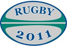 Rugby Ball 2011 Stock Photography