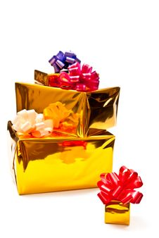Free Yellow Presents Boxes Stock Image - 16244171