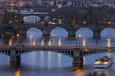 Bridges In Prague Royalty Free Stock Photography