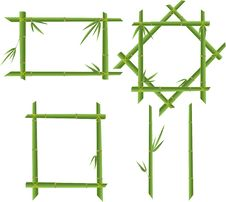 Free Set Of Bamboo Frames Royalty Free Stock Photography - 16244267