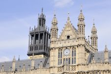 Towers Of Houses Of Parliament Royalty Free Stock Photography