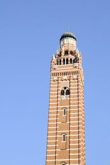 Free Church Tower Against Blue Sky Stock Photo - 16244710