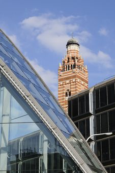 Free Glass Architecture And Church Tower Royalty Free Stock Image - 16244756