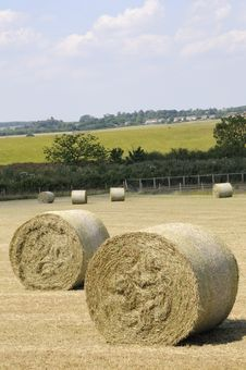 Closeup With Hay Bales Stock Photos
