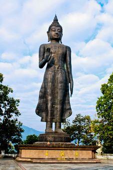 Free Buddha Image In Sky Background Royalty Free Stock Image - 16245366