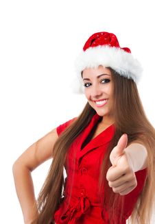 Attractive Young Women  Show The Thumb Stock Photography