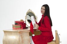 Free Beautiful Santa Girl Wearing Santa Claus Clothing Royalty Free Stock Photography - 16247187