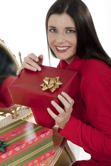 Free Attractive Young Woman With Christmas Presents Stock Photo - 16247250