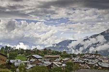 The Village Of Le Praz, Close To The Vanoise NP Stock Photos