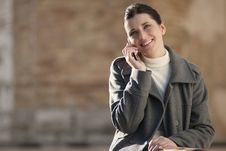 Free Young Woman On Mobile Phone Stock Photo - 16247760