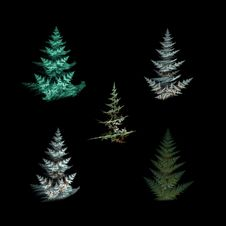 Free Abstract Christmas Trees Stock Photo - 16247960