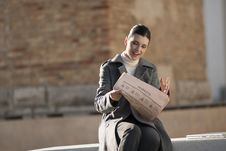 Free Young Woman Taking A Rest With Newspaper Stock Image - 16248261