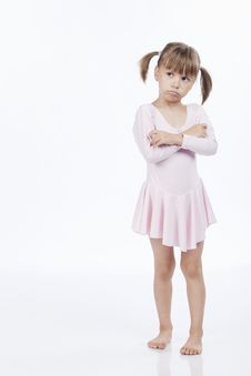 Free Upset Little Girl In Pink Outfit Stock Images - 16248784