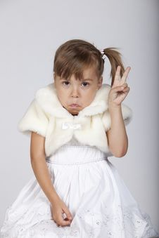 Free Very Funny Image Of A Shy Little Girl Royalty Free Stock Photography - 16248787