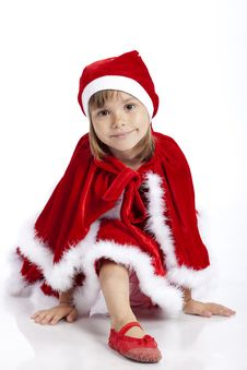 Free Adorable Miss Santa, 5 Years Old Girl Stock Photos - 16248903