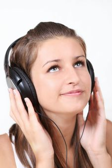 Free Girl Listening Music Royalty Free Stock Image - 16249756