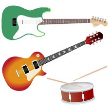 Free Collection Of Music Objects Royalty Free Stock Photography - 16249957