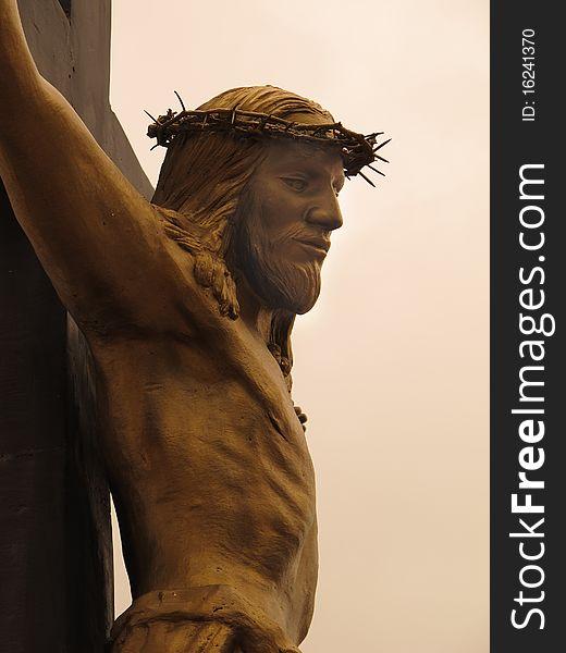 Bronze Christ on the Cross