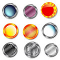Free Glossy Buttons Royalty Free Stock Photo - 16251305