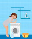 Free Housewife In The Laundry Royalty Free Stock Photos - 16251328