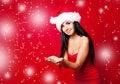 Free Girl Wearing A Santa S Hat Stock Image - 16254591