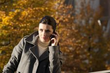 Free Young Woman On The Mobile Phone Royalty Free Stock Photos - 16250098