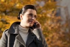 Free Young Woman On The Mobile Phone Stock Photos - 16250233