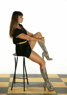 Free The Girl With A Chair Royalty Free Stock Photo - 16250325