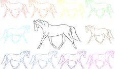 Free Fun Rainbow Horses Stock Photos - 16250753
