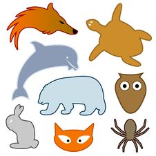 Free Animal Silhouettes Royalty Free Stock Photos - 16251208