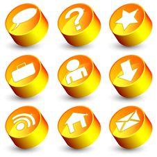 Free Orange Web Icons Stock Images - 16251344