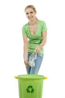Young Woman Recycling Stock Photos