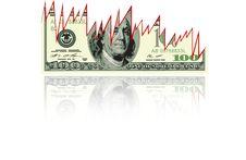 Free Falling Dollar Chart Royalty Free Stock Photo - 16252445