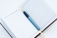 Free Notebook And Pen Royalty Free Stock Photo - 16252465