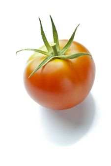 Free Ripe Red Tomato On Reflective White Royalty Free Stock Photography - 16252677