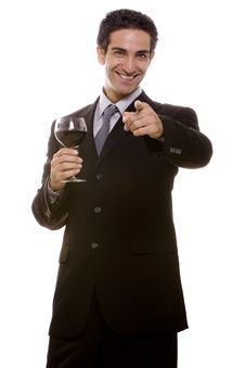 Businessman Celebrating Royalty Free Stock Image