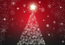 Free Red Christmas Tree Background Stock Image - 16253791