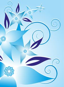Free Blue Flower Background Stock Photography - 16253832