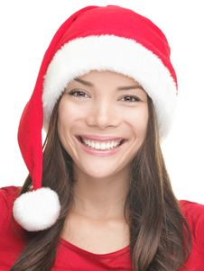 Christmas Girl Smiling Royalty Free Stock Photos