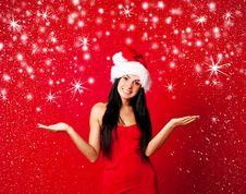 Free Girl Dressed As Santa Stock Photo - 16254170