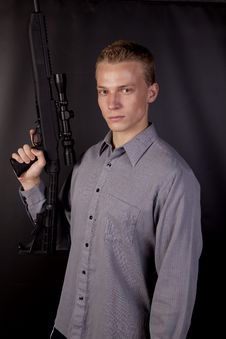 Free Serious Big Gun Stock Photo - 16254450