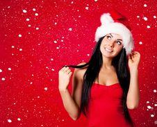Free Girl Dressed As Santa Royalty Free Stock Photos - 16254468