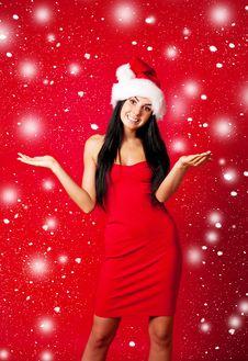 Free Girl Dressed As Santa Royalty Free Stock Images - 16254629