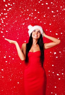 Free Girl Dressed As Santa Royalty Free Stock Photography - 16254897