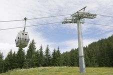 Free Cable Car On A Cableway In The Alps Stock Photos - 16255053