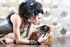Free Dog And Woman Royalty Free Stock Photography - 16255897