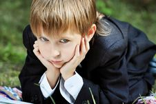 Free Thinking Boy Stock Photography - 16256382