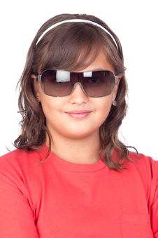 Free Adorable Preteen Girl With Sunglasses Stock Photography - 16256402